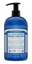 DR BRONNER`S ORGANIC 4-in-1 PEPPERMINT PUMP SOAP 709ml - FAIRTRADE