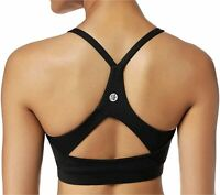 RUNNING GIRL Stappy Sports Bra for, Black, Size CN:XL/US:L【Fit for 34DD 36C 36