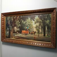 "Vintage 1966 PAUL DETLEFSEN Water Wagon HAPPY DAYS Framed Art Print - 28"" X !5"""