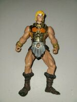 2001 Masters of the Universe He-Man Battle Sounds Figure Loose with Gold Armor