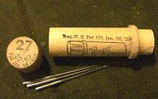 (1)  - # 27 Antique Boye Sewing Machine (3) Needle Set in wood tube  #27 30 - 80