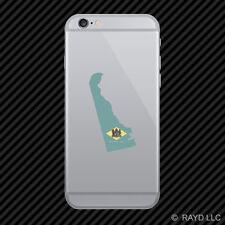 Delaware State Shaped Flag Cell Phone Sticker Mobile DE