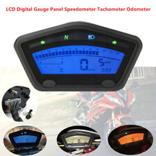 Motorcycle Scooter LCD Digital Gauge Panel Speedometer Tachometer Odometer Km/h