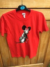 Dismaland t-shirt, Large Youth size, Amusement Park, Banksy Red New Minnie
