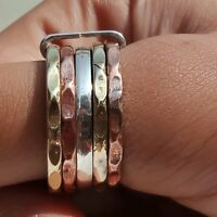 Solid 925 Sterling Silver Spinner Ring Meditation Ring Statement Ring Size s887