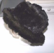 Sombrero de Invierno señoras Vintage Piel Sintética-Excelente Estado