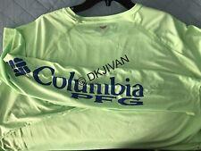Columbia Pfg Terminal Tackle Longsleeve Lime Swimming Fishing Shirt 3Xt Men New