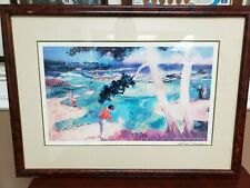 LEROY NEIMAN HAND SIGNED FRAMED MATTED PRINT PEBBLE BEACH 1991