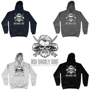 Official Bob Gnarly Surf®  Hoodie Skull & Crossboards Retro Unisex Men Womens