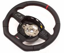 Messa Punto S-LINE Piatto Volante Multifunk. in pelle Nero Audi A8, Q7 Rosso