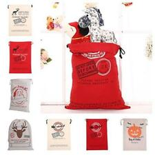 Kids Children Gifts Stocking Bag Canvas Christmas Santa Sack FOR XMAS Party B