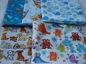 Dinosaurs Whales Puppies Monsters Flannelette Blanket Handmade 100cm x110cm