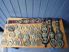 More details for collection of vintage horse brasses