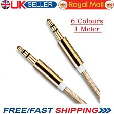 1 M 3.5mm Jack Plug To Plug Male Cable - Audio Lead Headphone/iPod/Aux/MP3