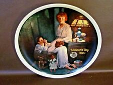 "Mother's Day 1990 Norman Rockwell Collector Plate ""Evening Prayers"""