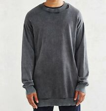 NWT $115 Cheap Monday Impact Knit Sweater Sweatshirt Long Distressed sz S