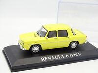 Ixo Presse 1/43 - Renault 8 Jaune 1964