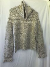 GAP Womens Wool Acrylic Turtleneck Sweater M HONG KONG Beige Chunky Angora