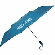 MOSCHINO Designer Logo Automatic Umbrella Blue, new