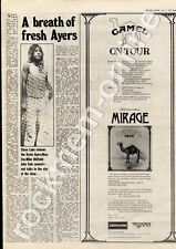 Camel Mirage SML 1107 Town Hall, Walsall MM4 LP/Tour Advert 1974