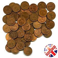 A set of (x50) 1967 British Bronze ELIZABETH II HALFPENNY Coins
