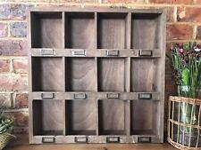 Vintage shabby chic armoire cabinet 12 PIGEON HOLE MUR stockage étagère 60 cm