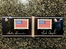 2014 Upper deck Black Hale Irwin Fred Couples DUAL AMERICAN FLAG LOGO AUTO 11/35