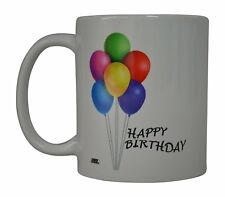 Best Coffee Mug Happy Birthday Balloons Novelty Cup Great Gift Idea Friend