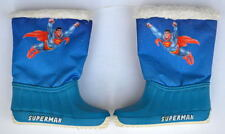 SUPERMAN Child's SNOW BOOTS Size 22-23 New w TAGS 1986 ITALY Distribution RARE
