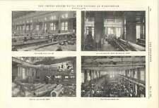 1895 Washington Naval Gun Factory Rifling Mounting Carriage Shop