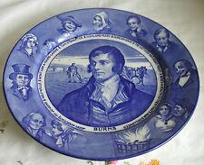 BURNS PLATE ROYAL DOULTON D3342 BLUE