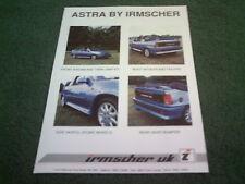 1988 irmscher opel Astra Convertible/Opel Kadett E FOLLETO GTE