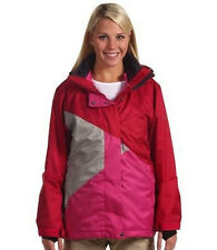 JACKET:  SESSIONS CLIMATE 2-IN-1 CRANBERRY WOMAN'S M SNOWBOARD NEW SHIPPED FREE!