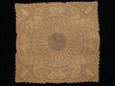 Admirable Mouchoir de mariage début XIXeme s. Broderie Embroidery Dentelle Lace