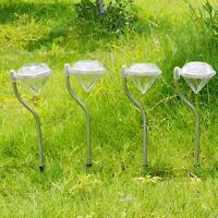 4pcs LED Solar Leuchte Garten Solarlampe Wegbeleuchtung Wetterfeste Außenleuchte