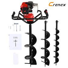 More details for crenex 52cc petrol auger set motorised auger with 3 auger bits extension