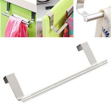 Bathroom Kitchen Over Door Novelty Stainless Steel Towel Rack Holder Hanger