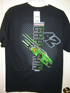 2021 Ross Chastain #42 CLOVER Checkered Flag Sports Traction 1-Spot Tee LARGE