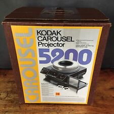 Kodak Carousel 5200 Slide Projector, Lens, Remote, 80 Tray + 37 Pana-Vue Slides