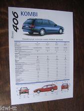 PEUGEOT 406 STATION WAGON prospetto/brochure/DEPLIANT, PL