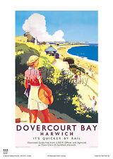 Clacton On Sea 6 Railway Vintage OldSchool Beautiful Poster Tendring Essex Photo
