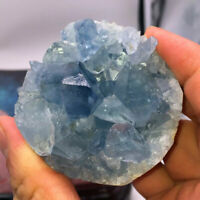 Natural Raw Blue Celestite Crystal Quartz Cluster Geode Specimen Home Decoration