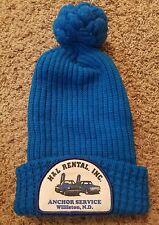 Vintage Industrial Advertising Knit Stocking Hat Williston North Dakota