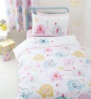 Carnival Elephants Nellie Kid Girls Duvet Quilt Cover Bedding Bed Linen Set Pink