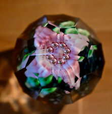 Paperweight,  Briefbeschwerer, Glas facettiert, H 7, Ø 6,5 cm, 420 g