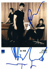 """A-Ha genuine autograph 5""""x7"""" photo signed In Person Norwegian pop band"""