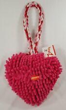 Heart Felt Moppy Tug fetching squeaker plush toy dog puppy toys Valentine's B6