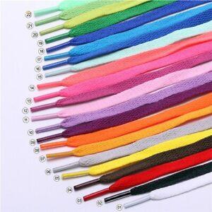 1 Paar Schnürsenkel flach 60-180 cm 8 mm breit in verschiedenen Farben Schuhe