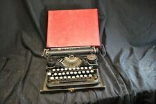 Vintage Underwood 3 Bank Portable Typewriter With Case - As Is - A5