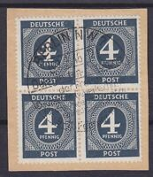 Allied Occupation Mi 914 4er Block Clean With Sst Berlin 1946 on Letter Piece
